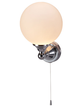 Edwardian Single Round Light With Pull Cord - T50