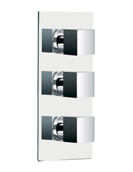 Bloque Twin Outlet Triple Control Concealed Thermostatic Shower Valve