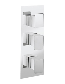 Kelly Hoppen Zero 3 Portrait 3 Control Thermostatic Shower Valve