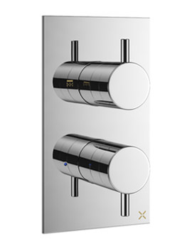 Related Crosswater Mike Pro Chrome Double Outlet Thermostatic Shower Valve