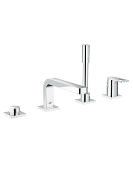 Quadra 4 Hole Single Lever Bath Combination - 19579000