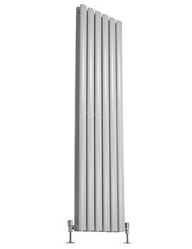 Bounce 354 x 1750mm Double Panel Vertical Designer Radiator White