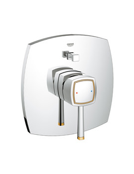 Grohe Spa Grandera Chrome Gold Single Lever Bath Shower Mixer Trim