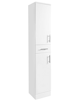Beo 350 x 330 x 1900mm Tallboy Furniture Unit High Gloss White