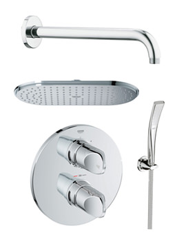 Related Grohe Spa Veris Plus Rainshower Shower Solution With Handset Pack - 118325