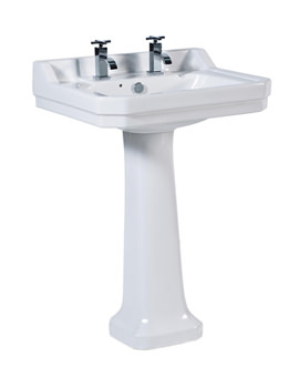 Victoriana Traditional Basin And Pedestal 600mm - VI050