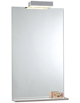 600mm Mirror With Shelf And Lights - FM60ML