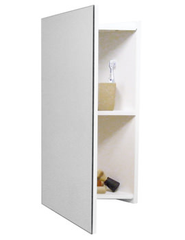 Cara Gloss White Corner Mirror Cabinet 700 x 380mm - FC003