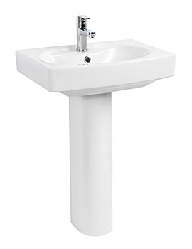 Related Beo Grace 550mm Basin With 1 Tap Hole And Full Pedestal