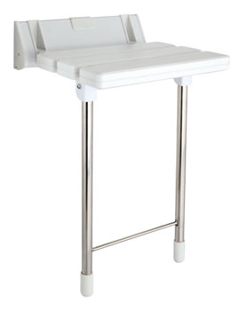 Luxury Shower Seat With Stainless Steel Legs - SS004