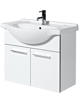 Phoenix Touch 750mm Wall Mounted Base Unit And Basin - FH75W