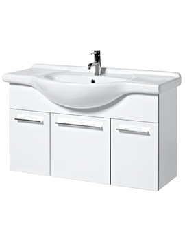 Touch 1050mm Wall Mounted Base Unit And Basin - FH105W