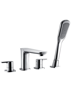 Urban 4 Hole Bath-Shower Mixer Tap With Handset And Hose