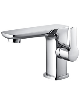 Urban Side Lever Basin Mixer Tap With Clicker Waste