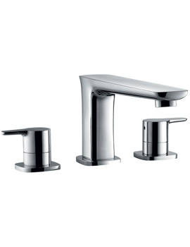 Flova Urban 3 Hole Deck Mounted Bath Filler Tap - UR3HBF