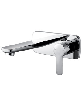 Urban Wall Mounted Basin Mixer Tap With Waste