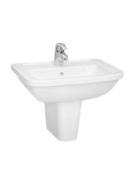 VitrA Form 300 60cm Washbasin With Large Half Pedestal