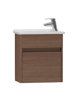 VitrA S50 Oak 450mm Compact Washbasin Unit - 53033