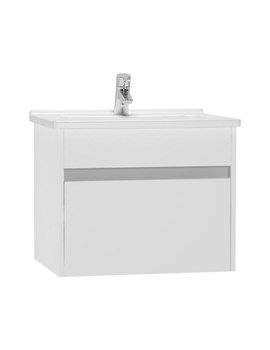 VitrA S50 High Gloss White 600mm Washbasin Unit - 54734