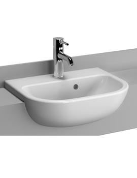 S20 1 Taphole 45cm Semi-Recessed Basin