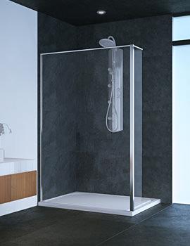 Beo 8mm Glass Wetroom Shower Screen 1200 x 2000mm