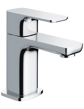 Pura Flite Single Lever Small Basin Mixer Tap With Clicker Waste