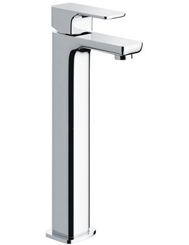 Flite Single Lever Tall Basin Mixer Tap With Clicker Waste