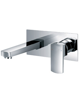 Dekka 2 Hole Wall Mounted Basin Mixer Tap With Clicker Waste