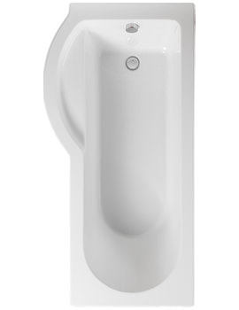 Arco Left Hand 1700 x 850mm Shower Bath - PBSBLH17