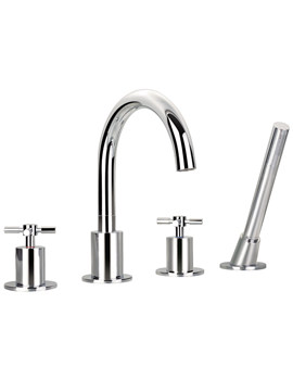 Flova XL 4 Hole Bath-Shower Mixer Tap With Handset And Hose