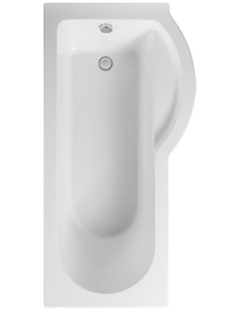 Arco Right Hand 1700 x 850mm Shower Bath - PBSBRH17