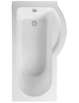 Arco Right Hand 1500 x 850mm Shower Bath - PBSBRH15