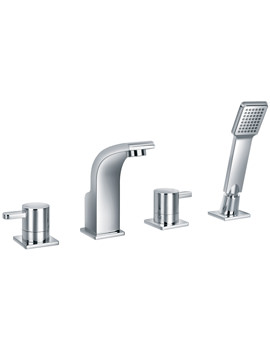 Flova Essence 4 Hole Bath-Shower Mixer Tap With Handset And Hose