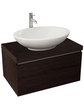 Echo 600mm Wenge Single Drawer Wall Mounted Unit And Worktop