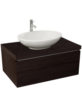 Echo 800mm Wenge Single Drawer Wall Mounted Unit And Worktop