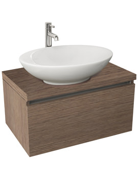 Echo 600mm Soft Oak Single Drawer Wall Mounted Unit And Worktop