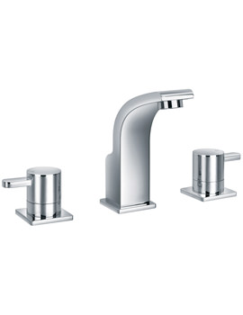 Essence 3 Hole Deck Mounted Basin Mixer Tap With Clicker Waste