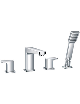 Dekka 4 Hole Bath-Shower Mixer Tap With Handset And Hose