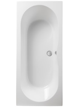 Pura Wave 1800 x 800mm Double Ended Bath - PBDE18X80