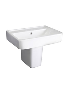 Granger White 520mm Basin With Semi  Pedestal - CBA004