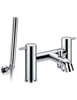 Levo Bath-Shower Mixer Tap With Handset And Hose