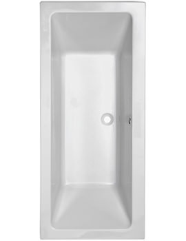 Pura Bloque 1700 x 750mm Double Ended Bath - PBBQDE17X75