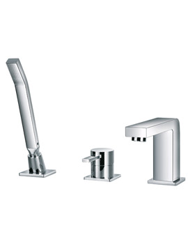 Str8 3 Hole Bath-Shower Mixer Tap With Handset And Hose