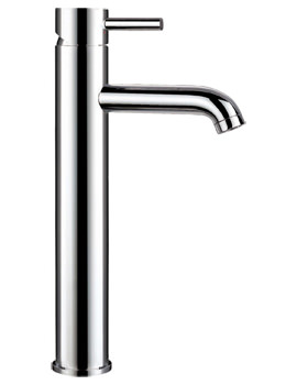 Flova Levo Tall Single Lever Basin Mixer Tap With Clicker Waste