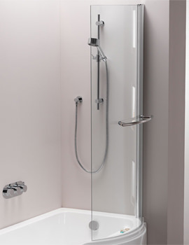 Arco Left Or Right Hand Hinged Shower Bath Screen 800 x 1500mm
