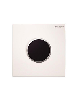 Geberit Hytouch Sigma10 Mains Supply Urinal Flush Control - White - Chrome