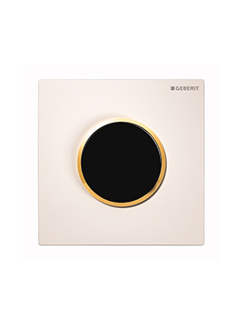 Geberit Hytouch Sigma10 Battery Supply Urinal Flush Control-White-Gold