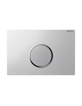 Sigma10 Bright Chrome Flush Plate For UP320-Battery Operated