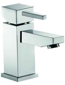 Pura Sq2 Basin Mixer Tap With Clicker Waste - SQHFBAS