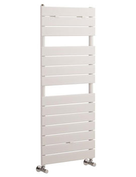 Flat Panel White Towel Rail 500x1213mm - HLW35
